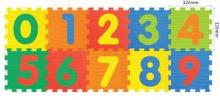 """Коврик-пазл """"Цифры"""" 1*32*32 см (10 деталей)"""