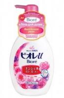 """Увлажняющий и смягчающий гель для душа Kao """"Biore U""""Aroma Time с ароматом персиков 500 мл"""
